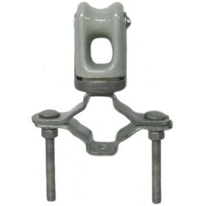 PPC Insulators 6912 Wireholder, Insulated, Pipe Mount Type, Pipe Range: 1-1/4 to  2-1/2""