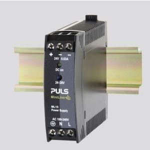 PULS ML15.241 Power Supply, 15W, 0.63A, 28VDC Output, 240VAC, 300VDC Input, IP20