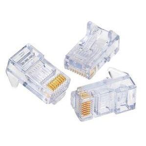 Paladin PA9655 Modular Plug, RJ45, 8P8C, Cat 5e, Stranded Cable, 50 Pack