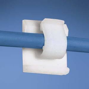 Panduit ACC38-A-C Cord Clip, Adhesive Backed, Nylon, Natural, Max Bundle Dia: .38""