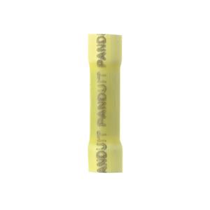 Panduit BSV10X-Q Butt Connector, Vinyl Insulated, 12 - 10 AWG, Yellow, Pack of 25