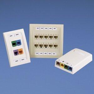 Panduit C252X030FJC Adhesive Label, Mini-Com® 4-port Identifier, Polyolefin, White