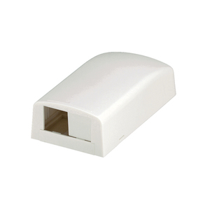 Panduit CBX2IW-AY Multimedia Outlet Housing, Low Profile, Surface, Off White, 2-Ports