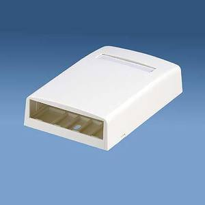 Panduit CBX4WH-AY Multimedia Outlet Housing, Low Profile, Surface, White, 4-Ports