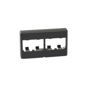 Panduit CFFP4BL Faceplate, 4 Port, Snap-In, Modular Furniture, Black