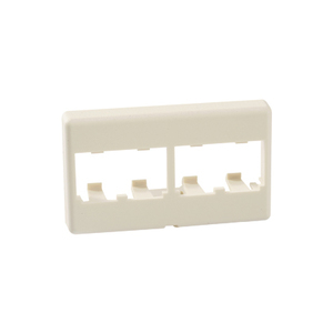 Panduit CFFP4IW Furniture Faceplate, 4 port, Off White