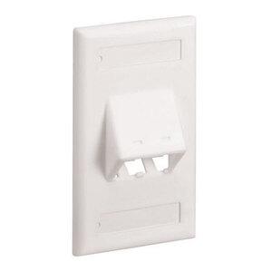 Panduit CFPSL2EIY Faceplate, 2 Port, Classic, Sloped, Elec