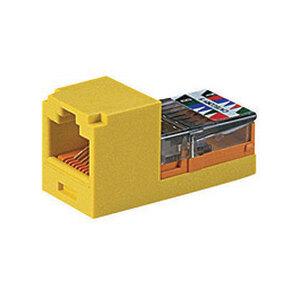 Panduit CJ588EIY Snap-In Connector, Cat 5e+, Mini-Com, TX5e, UTP, Ivory