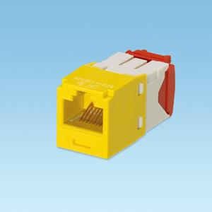 Panduit CJ5E88TGYL Snap-In Connector, Cat 5e+, Mini-Com, TX5e, UTP, Yellow