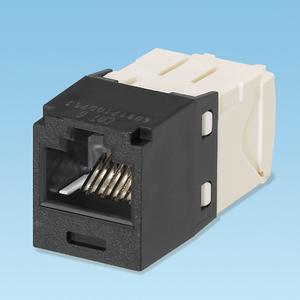 Panduit CJ688TGBL Snap In Connector, Mini-Com, TX6 PLUS UTP, Cat 6, Black
