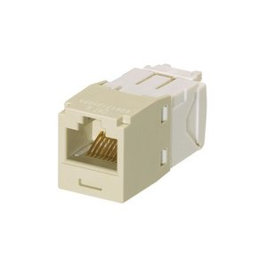 Panduit CJ688TGEI Snap In Connector, Mini-Com, TX6 PLUS UTP, Cat 6, Ivory