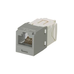 Panduit CJ688TGIG Snap In Connector, Mini-Com, TX6 PLUS UTP, Cat 6, Gray