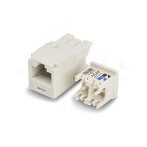 Panduit CJ688TGIW Snap In Connector, Mini-Com, TX6 PLUS UTP, Cat 6, Off White