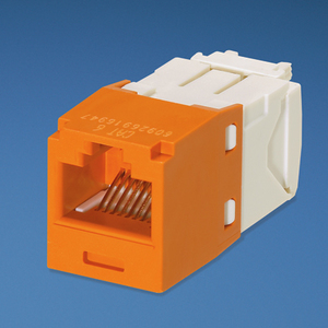 Panduit CJ688TGOR Snap In Connector, Mini-Com, TX6 PLUS UTP, Cat 6, Orange