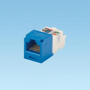 Panduit CJ688TPBU Snap In Connector, Mini-Com, TX6 PLUS UTP, Cat 6, Blue