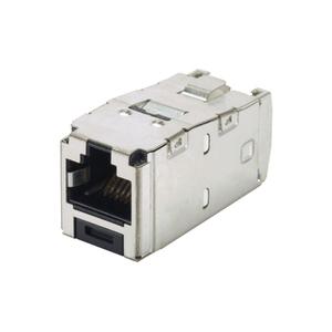Panduit CJS688TGY Snap In Connector, Mini-Com, TX6 Plus, Shielded, Cat 6, T568A/B