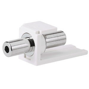Panduit CM35MSCIWY Stereo Coupler, Mini-Com, 3.5mm, Snap-In, Off White
