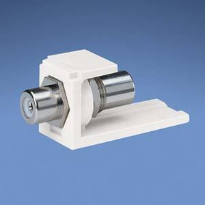 Panduit CMRPWIW Snap-In Connector, Mini-Com, RCA, Pass Through, White, Off White