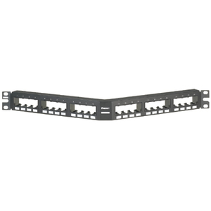 "Panduit CPPA24FMWBLY Patch Panel, Mini-Com, 24 Port, 1RMU, 1.72"" H x 19"" W x 3.86"" D"