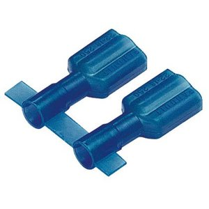 "Panduit DNF14-250FIB-3K Female Disconnect, Nylon Fully Insulated, 16 - 14 AWG, .205"" x .032"" Tab, Blue"