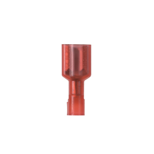 Panduit DNF18-110FIB-C Female Disconnect, Nylon Insulated, 22 - 18 AWG, Brass/Tin, Red