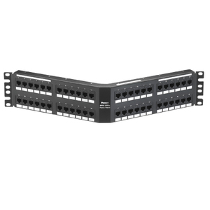 Panduit DPA486X88TGY Punchdown Patch Panel, Cat 6A, Angled, 4