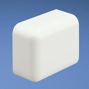 Panduit ECF10WH-X End Cap Fitting, LD10 Series, Non-Metallic, White, Low Voltage