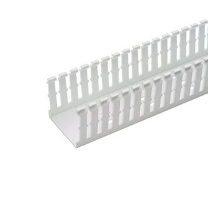 "Panduit F1X4WH6 Wiring Duct,  Narrow Slot, 1"" x 4"" x 6', PVC, White"