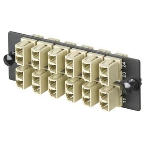 Panduit FAP12WEIDLC FAP w/12 LC Dupl mm Adapters (EI) Phos