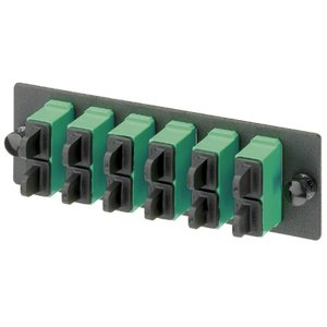 Panduit FAP4WAGDSCZ FAP W/4 SC APC Dupl SM Adapters (AG) Zir