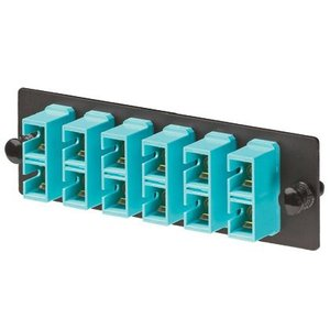 Panduit FAP6WAQDSCZ Adapter Plate, 12 Fibers, Aqua