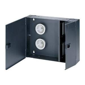 Panduit FWME4 Fiber Enclosure, Wall Mount, 4 QuickNet Cassettes, FAP/FMP, Black