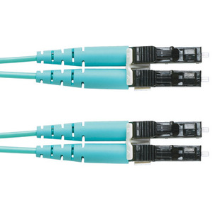 Panduit FXE10-10M1Y Fiber Optic Patch Cord, 10GB, Duplex, LC to LC, Riser, 1 Meters, Yellow