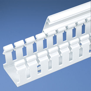 Panduit H3X3WH6 Slotted Hinged Duct,PVC,3X3X6',White