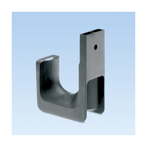 "Panduit JP2W-L20 Cable Support, J-Hook, Wall Mount, 1/4"" Hole, Nylon"
