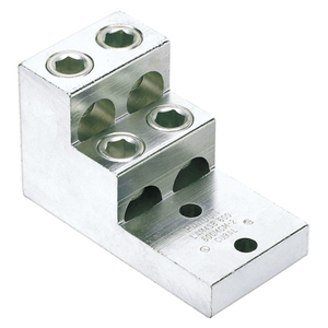 Panduit LAM4SB600-38-1Y Mechanical Lug, Aluminum, 4-Barrel, 2 AWG to 600 MCM, 2-Hole