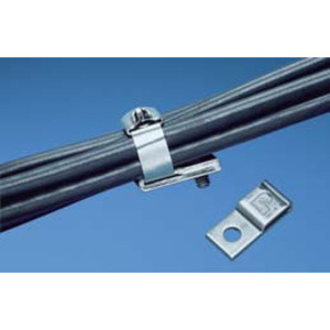 Panduit MTM1H10-C Stainless Steel Cable Tie Mounts, 1-Hole, #10 Screw