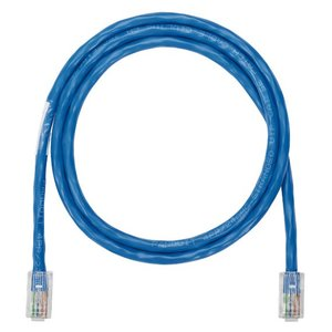 Panduit NK5EPC10BUY Patch Cord, Copper, Modular Plugs, Cat 5e, 24 AWG, Blue, 10' Length