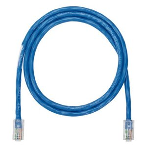 Panduit NK5EPC14BUY Patch Cord, Copper, Modular Plugs, Category 5e, 24 AWG, Blue, 14' Length