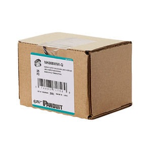 Panduit NK688MIW-Q Snap In Connector, NetKey, Cat 6, Component Rated, Off White