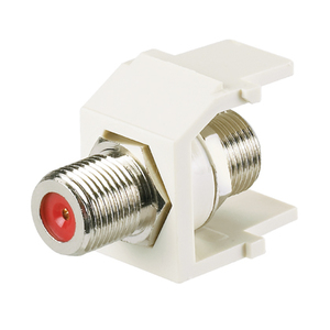Panduit NKFWH Snap-In Connector, Pass-Through, F-Connector, 75 Ohm, White