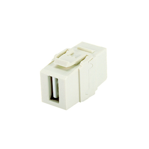 Panduit NKUSBAAIW NetKey® USB 2.0 female A to female A coupler module.