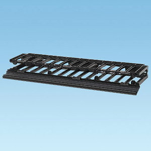 """Panduit NMF1 Horizontal, Cable Manager, Front Only, 1.7""""H x 19""""W x 6.2""""D, 2RU"""