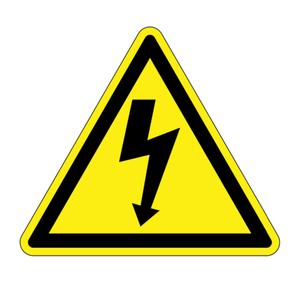 Panduit PESW-B-1Y ISO Label, Vinyl,'Electrical Shock symbo