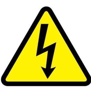 Panduit PESW-C-1Y ISO Label, Vinyl,'Electrical Shock symbo