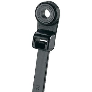 "Panduit PLC2S-S10-C0 Screw Mount Cable Tie, 7.9"" Long, UV Nylon, Black, 50lb Rating, 100/PK"