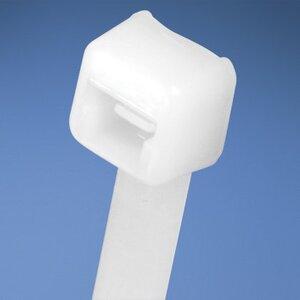 """Panduit PLT1M-C Cable Tie, Miniature, .098"""" Wide, 3.9"""" Long, Nylon, Natural Color"""