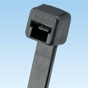 """Panduit PLT1M-C0 Cable Tie, Miniature, .098"""" Wide, 3.9"""" Long, UV Nylon, Black"""