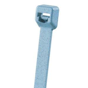 """Panduit PLT1M-C86 Cable Tie, Miniature, 3.9"""", Polypropylene, Light Blue"""