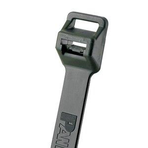"Panduit PLT5EH-C0 Cable Tie, Extra-Heavy, UV Black Nylon, 20.1"" Long, 100/PK"